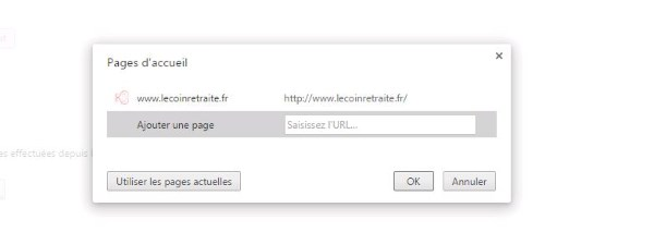 changer page accueil Chrome
