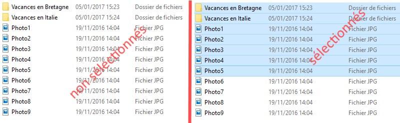 comment sélectionner plusieurs photos