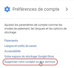 supprimer compte mail gmail