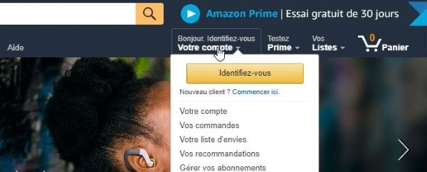 amazon creer un compte
